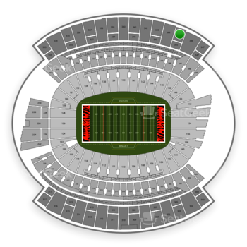 Cincinnati Bengals at Paul Brown Stadium Section 345 View
