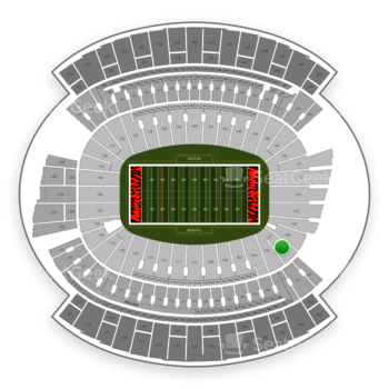 Cincinnati Bengals at Paul Brown Stadium Section 101 View
