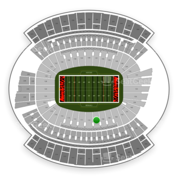 Cincinnati Bengals at Paul Brown Stadium Section 109 View