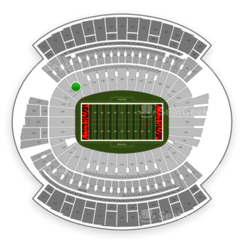 Cincinnati Bengals at Paul Brown Stadium Section 132 View