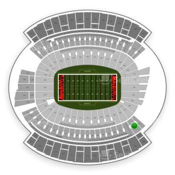Cincinnati Bengals at Paul Brown Stadium Section 202 View