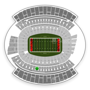 Cincinnati Bengals at Paul Brown Stadium Section 213 View