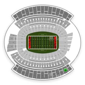 Cincinnati Bengals at Paul Brown Stadium Section 304 View