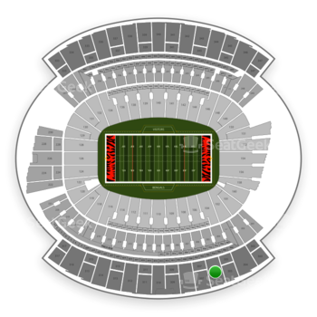 Cincinnati Bengals at Paul Brown Stadium Section 306 View