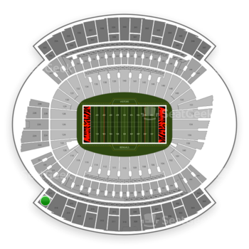 Cincinnati Bengals at Paul Brown Stadium Section 317 View