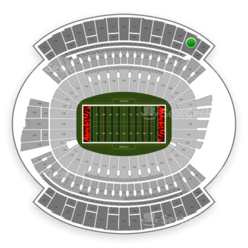 Cincinnati Bengals at Paul Brown Stadium Section 346 View