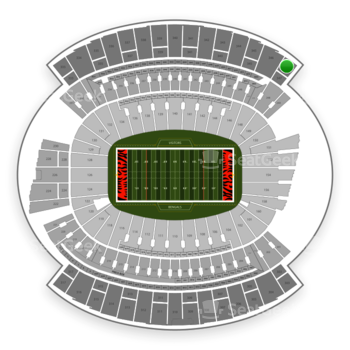 Cincinnati Bengals at Paul Brown Stadium Section 347 View