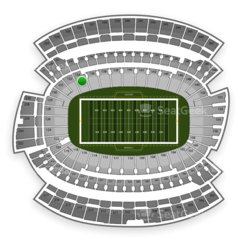 Cincinnati Bengals at Paul Brown Stadium Section 134 View