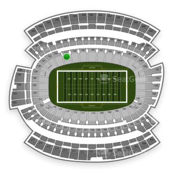 Cincinnati Bengals at Paul Brown Stadium Section 136 View