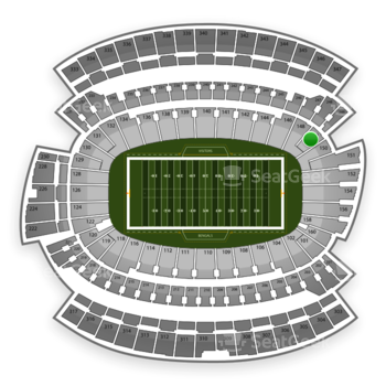 Cincinnati Bengals at Paul Brown Stadium Section 149 View