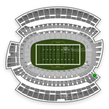 Cincinnati Bengals at Paul Brown Stadium Section 201 View