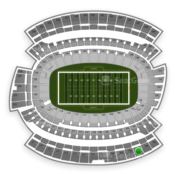 Cincinnati Bengals at Paul Brown Stadium Section 305 View