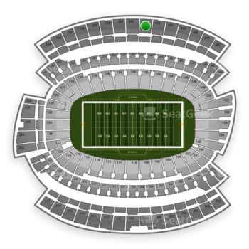Cincinnati Bengals at Paul Brown Stadium Section 341 View