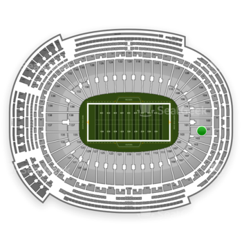 Green Bay Packers at Lambeau Field Section 101 View