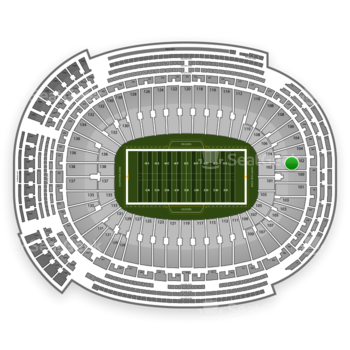 Green Bay Packers at Lambeau Field Section 102 View