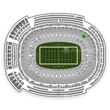 Green Bay Packers at Lambeau Field Section 108 View