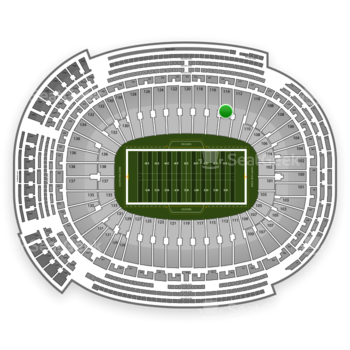 Green Bay Packers at Lambeau Field Section 114 View