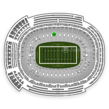Green Bay Packers at Lambeau Field Section 122 View