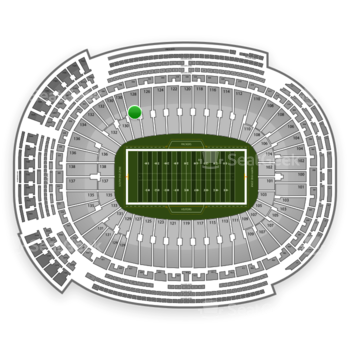 Green Bay Packers at Lambeau Field Section 128 View