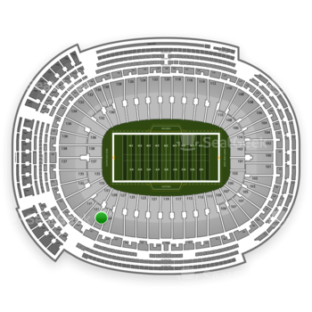 Green Bay Packers at Lambeau Field Section 129 View
