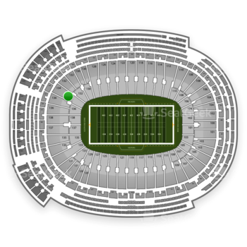 Green Bay Packers at Lambeau Field Section 134 View
