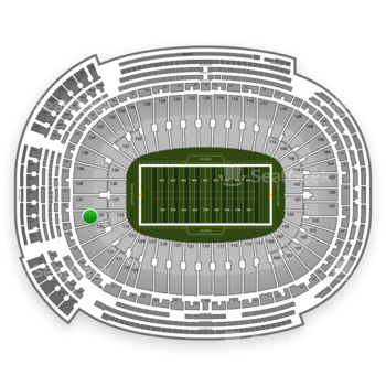 Green Bay Packers at Lambeau Field Section 135 View