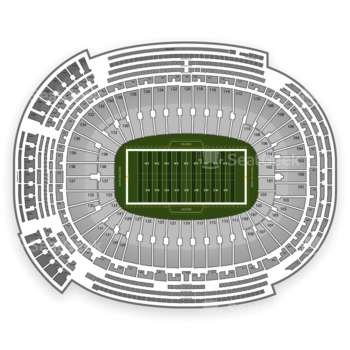 Green Bay Packers at Lambeau Field Section 20 View