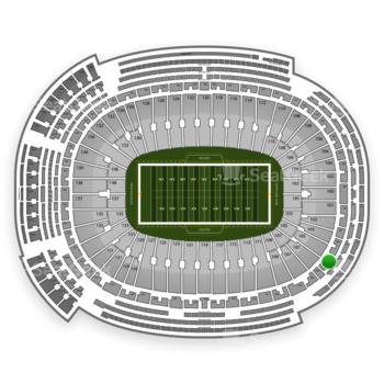 Green Bay Packers at Lambeau Field Section 307 View