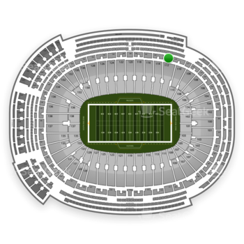 Green Bay Packers at Lambeau Field Section 318 View