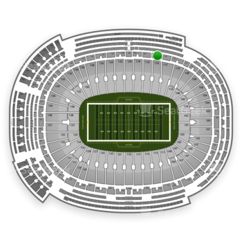 Green Bay Packers at Lambeau Field Section 320 View