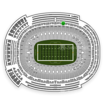 Green Bay Packers at Lambeau Field Section 322 View