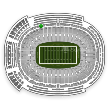 Green Bay Packers at Lambeau Field Section 334 View