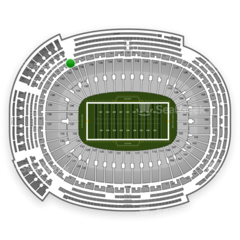 Green Bay Packers at Lambeau Field Section 338 View