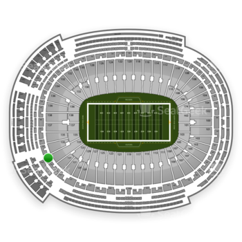 Green Bay Packers at Lambeau Field Section 347 View