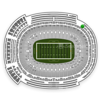 Green Bay Packers at Lambeau Field Section 470 View