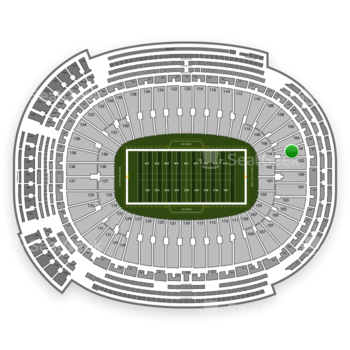 Green Bay Packers at Lambeau Field Section 104 View
