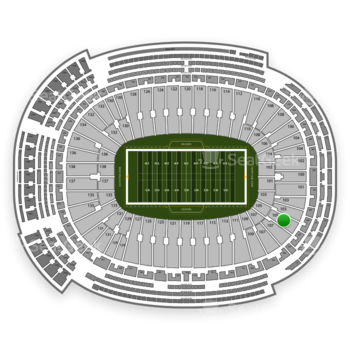 Green Bay Packers at Lambeau Field Section 105 View