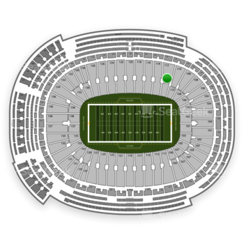 Green Bay Packers at Lambeau Field Section 112 View