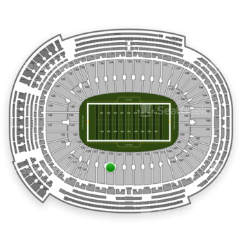 Green Bay Packers at Lambeau Field Section 123 View
