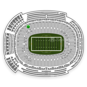 Green Bay Packers at Lambeau Field Section 130 View