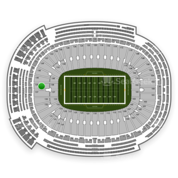 Green Bay Packers at Lambeau Field Section 138 View