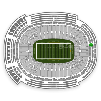 Green Bay Packers at Lambeau Field Section 302 View