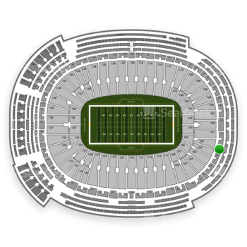 Green Bay Packers at Lambeau Field Section 303 View