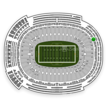 Green Bay Packers at Lambeau Field Section 306 View