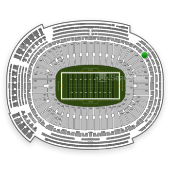 Green Bay Packers at Lambeau Field Section 308 View
