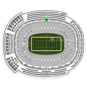 Green Bay Packers at Lambeau Field Section 326 View