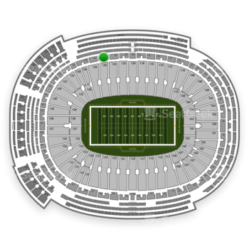 Green Bay Packers at Lambeau Field Section 332 View