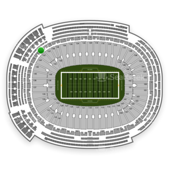 Green Bay Packers at Lambeau Field Section 342 View