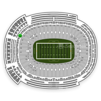 Green Bay Packers at Lambeau Field Section 346 View
