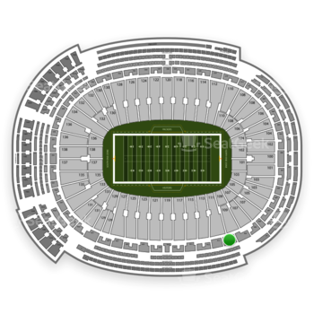 Green Bay Packers at Lambeau Field Section 409 View